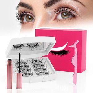 NEW! 4 Pair Magnetic Eyelashes with Eyeliner